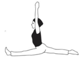 hanumanasana monkey pose  karuna yogabest yoga teacher